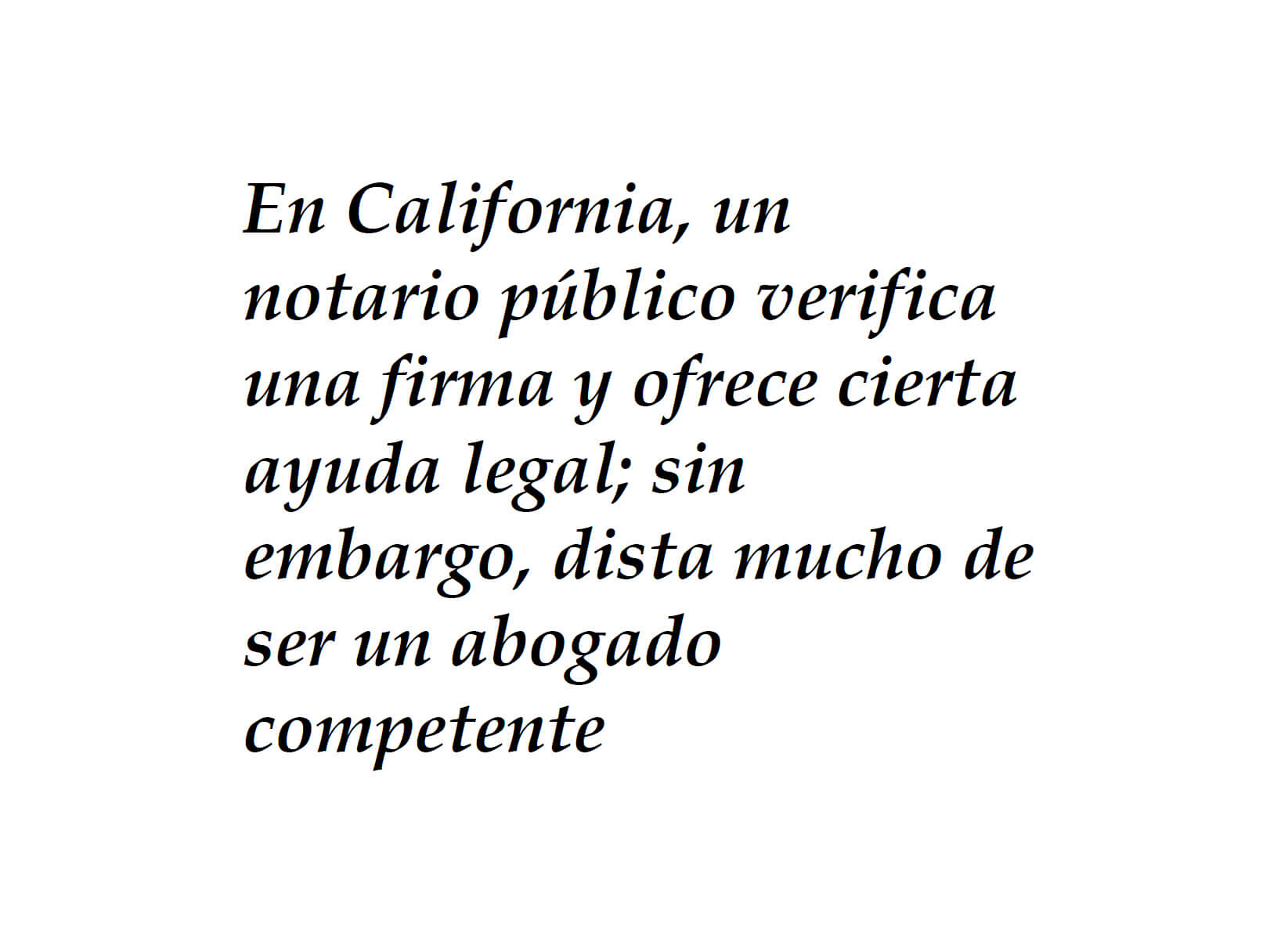 Ayuda legal incompetente
